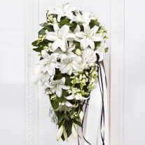 Funeral Bouquet with White Flowers